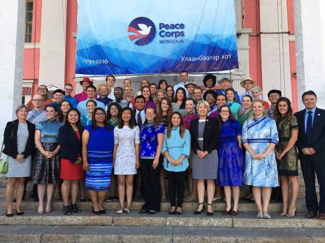 The M27 cohort with the director of the Peace Corps.