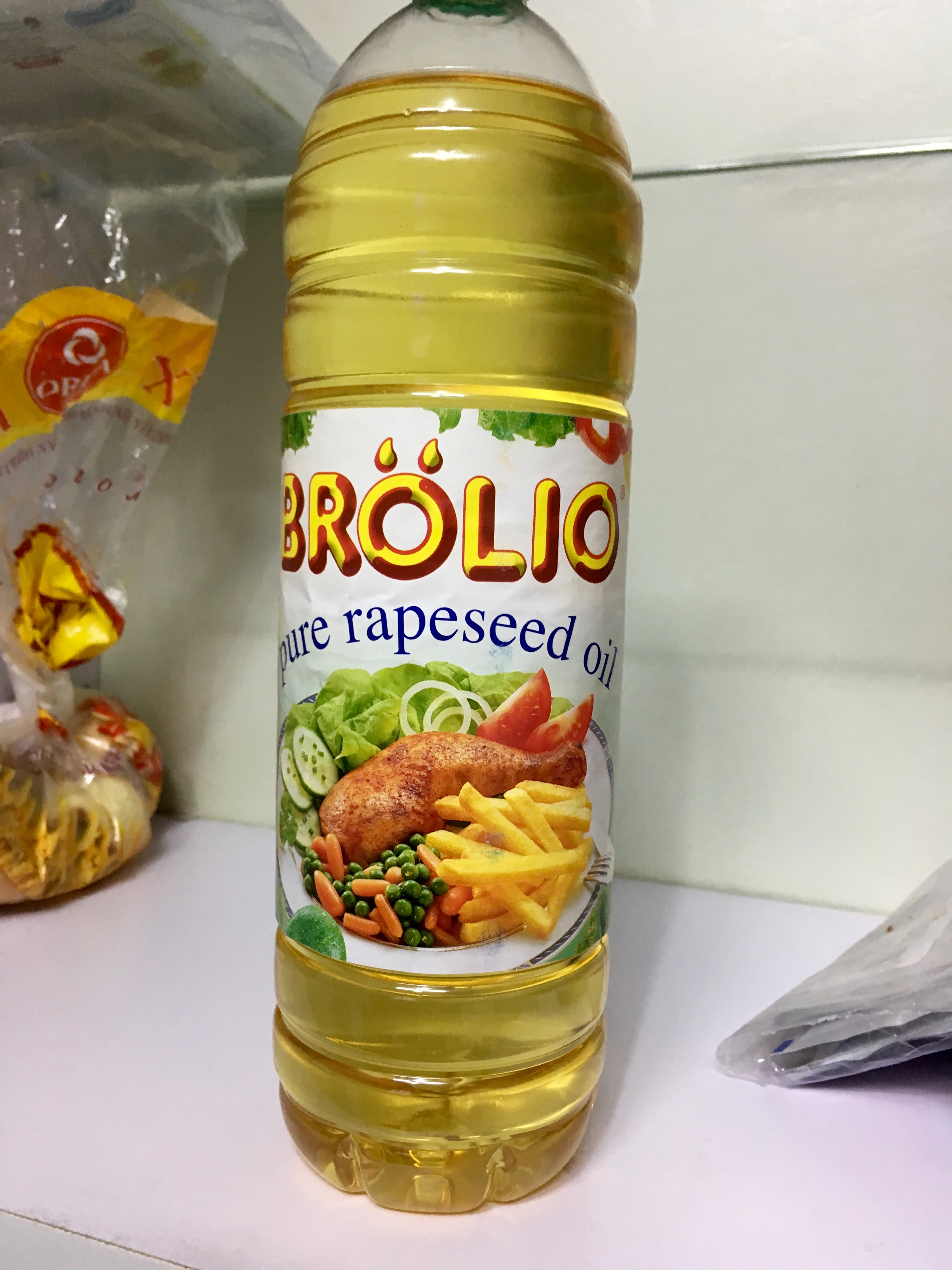 """What Americans call """"Canola oil"""" is called by its actual name here."""